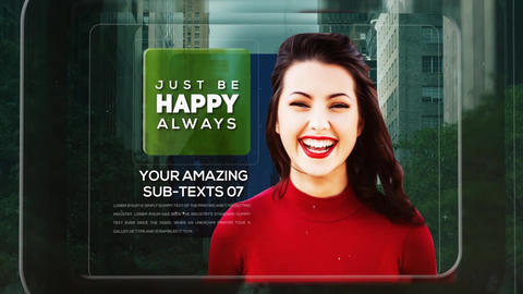Modern Glass Inverted Parallax Opener After Effects Template