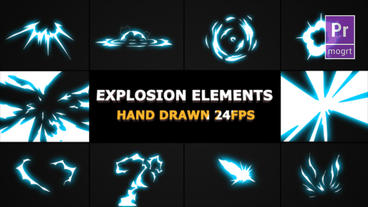 Energy Explosions And Transitions Motion Graphics Template
