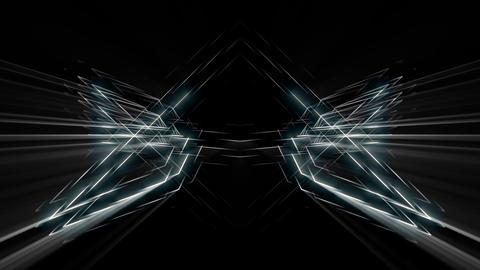 Shining Sonic Star With Shining Silver Rays And Glowing Lights VJ Loop Footage