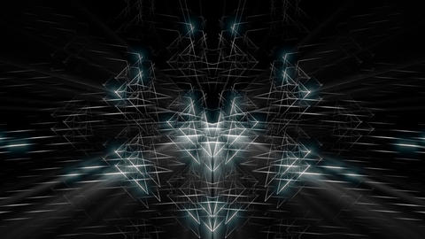 Appearing Shining Energy Silver Rays Black Background VJ Loop Live Action