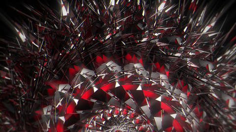Rotating Round Sparkling Colorful Cirle Black Background VJ Loop Live Action
