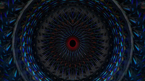 Green Blue Rotating Tunnel Circle Eye VJ Loop Footage