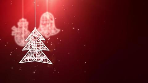 white paper christmas tree signs falling down festive seasonal celebration Animation