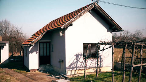 Small Abandoned House in the Village Center 영상물