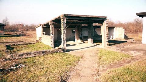 Abandoned Rural household Footage