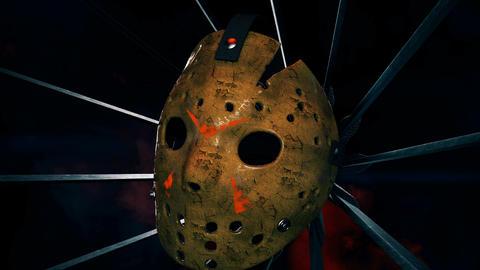 Jason Scary Mask With Machetes VJ Loop Animation