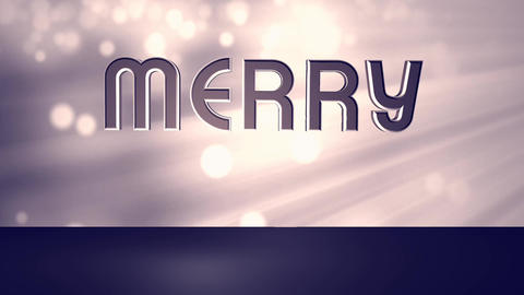 Merry Christmas 1 Stock Video Footage