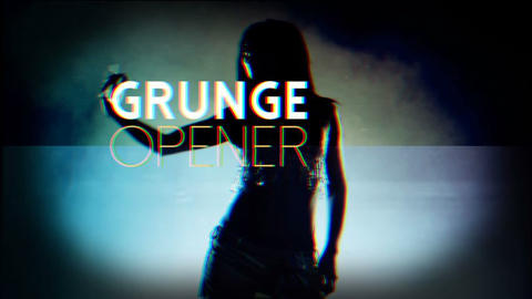 Grunge Film Opener After Effects Template