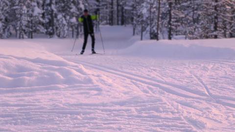 Evening Ski Trip GIF