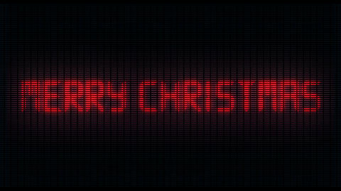 led writing crazy, writes Merry Christmas, ideal for TV and web Live Action