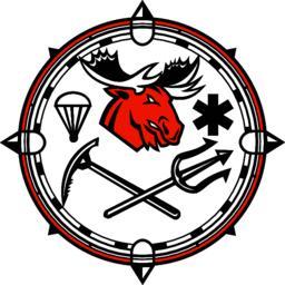 Moose Land Sea Air Emergency Rescue Mascot Vector