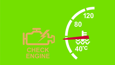 Check Engine Warning 2D Animation Animation