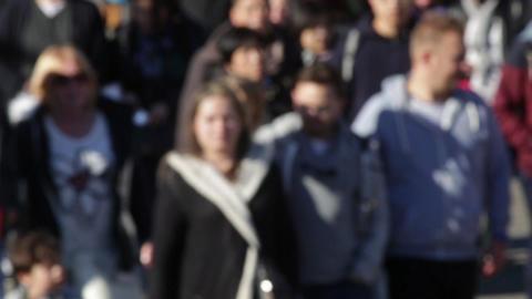 Blurry pedestrians (07) Footage
