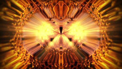 Sparkling Golden Shining Yellow Rays Liquid Eye Sun With Rays VJ Loop Animation