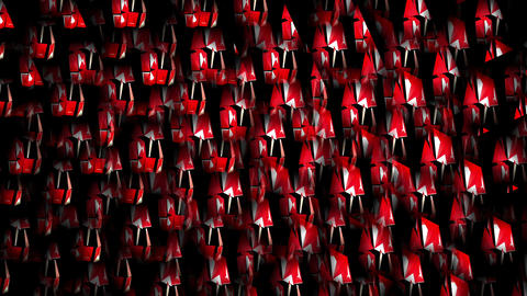 Abstract Heartbeat Small Sparkling Red and White Geometrical Particles Black Footage