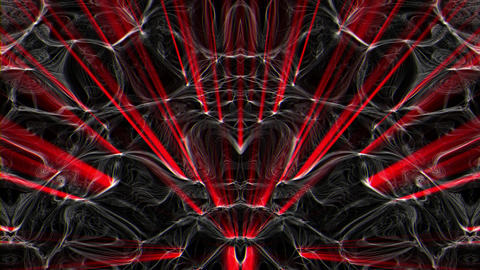 Lovely Red Liquid Sparkling Red Rays Combined With Medusa Shining Particles VJ Live Action