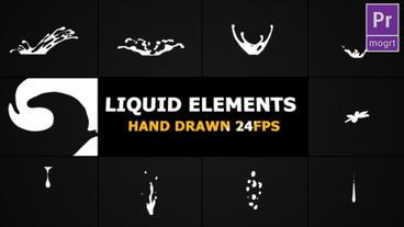 Flash FX Liquid Elements Motion Graphics Template