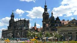 Dresden, Germany. Hofkirche and the Royal Palace building Footage