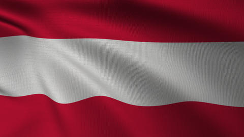 Austrian national Flag 4k Loop Animation