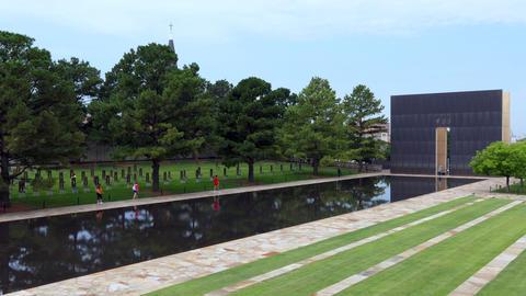 The Oklahoma City National Memorial In Oklahoma City USA Footage
