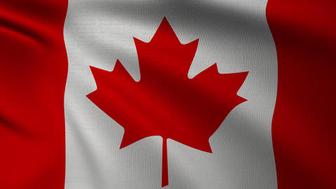 Canadian Flag 4k Fullscreen Animation