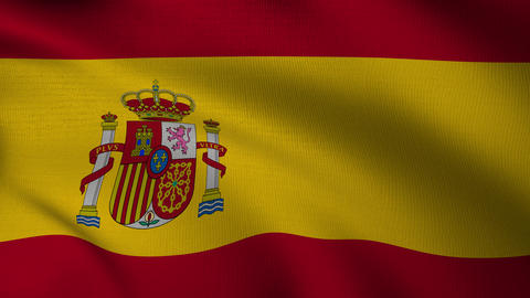 Spanish Flag 4k Loop Animation
