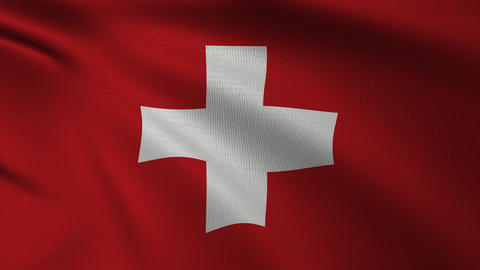 Swiss Flag 4k Loop CG動画素材