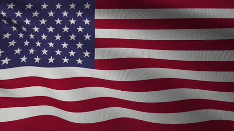 United States of America Flag 4k Fullscreen07 Animación