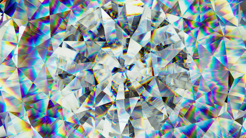 sparkling gemstone macro rotating seamless loop. kaleidoscope CG動画素材