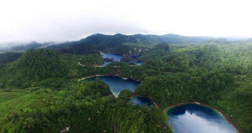 Stunning drone view of Cinco Lagos lagoons.TAKE 4 영상물