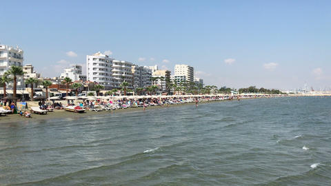 Finikoudes beach in Larnaca, Cyprus GIF