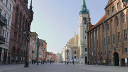 Medieval Town of Torun. Unesco heritage site in Poland Footage