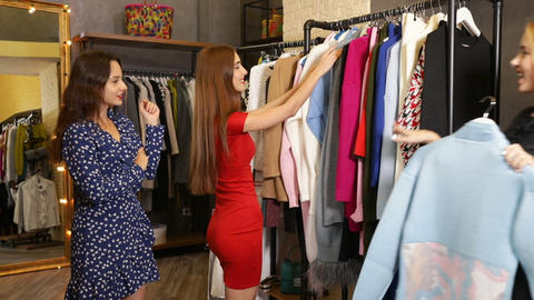 Shop-assistant Meets Customers' Tastes Footage