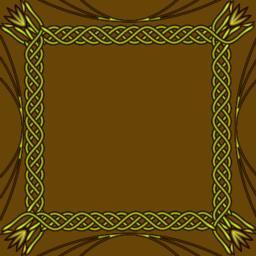 Square golden frame on golden background. Decorative border with embossed effect Vector