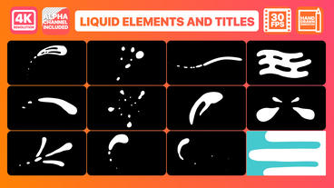 Liquid Shapes And Titles After Effects Template