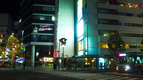 Night hyper lapse 4K at Kichijouji station Live Action