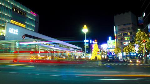 Night lapse 4K at Kichijouji station Live Action