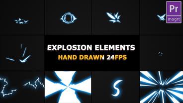Flash FX Explosion Elements Motion Graphics Template