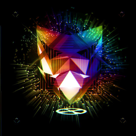 Colorful Psychedelic Mask With Different Shining Ray Radiating Frames VJ Loop Footage