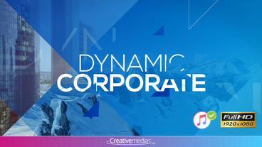 Dynamic Corporate Presentation – Apple Motion and Final Cut Pro X Template Apple Motionテンプレート