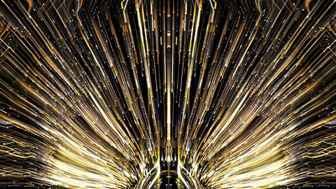 Abstract Firework Flower Golden Silver Rays Uprising VJ Loop Footage