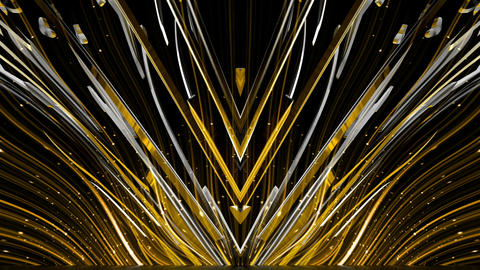 Abstract Golden And Silver Ray Firework FLower Vj Loop Footage