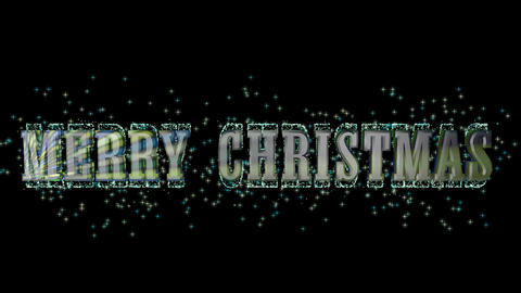 Merry Christmas with text HD Video CG動画素材