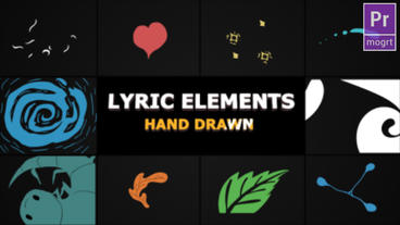 Flash FX Lyric Elements Motion Graphics Template