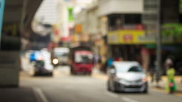 Busy City Traffic In Old KL District By Monorail Road stock footage