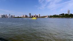 Hoboken Skyline stock footage