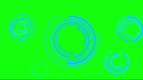Science fiction rotating circle design element on green background After Effects Template
