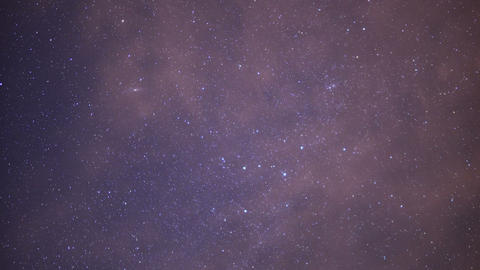 Starry Sky 23 Milky Way Time Lapse Clouds Footage