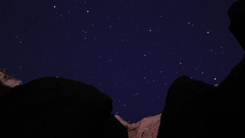 Red Rock Cayon LM11 Timelapse Moonlight Shadows on Rocks... Stock Video Footage