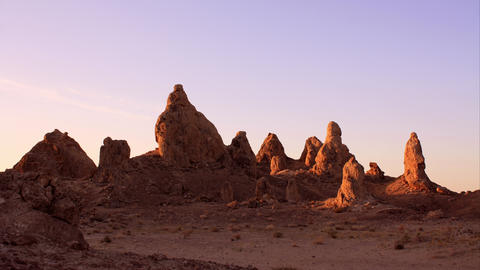 Trona Pinnacles LM43 Tilt Down Timelapse Sunrise Mojave Desert Footage